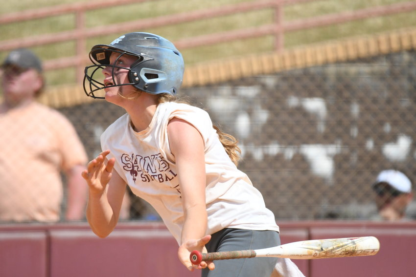 Clarendon Hall's Mandy Wells had two hits, scored a run and drove in a run during the Lady Saints' 9-5 loss to Wardlaw Academy in Game 2 of the SCISA 1A championship series on Tuesday.