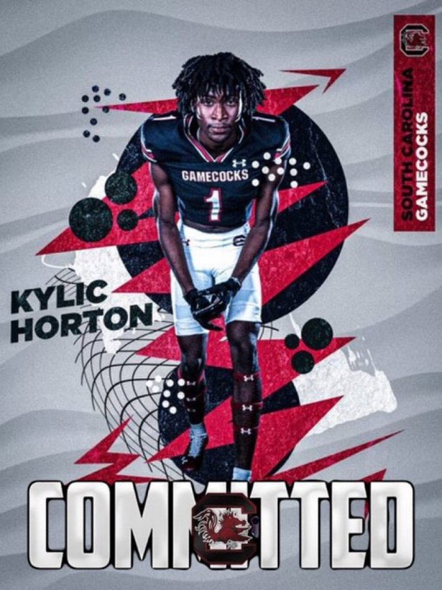 Clarendon Hall's Kylic Horton committed to the University of South Carolina on Friday with an announcement on Twitter.
