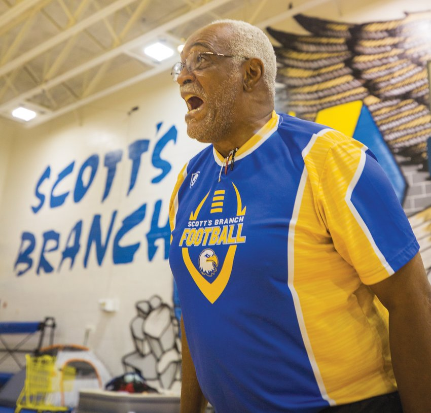 Leonard Johnson is back as the head football coach at Scott's Branch just a year after his second stint with the program lasted one season.