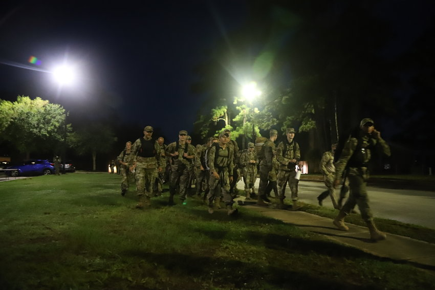 The Ninth Air Force joined the Danish Royal Air Force for the second DANCON March to be held in Sumter and the U.S. on Thursday morning. More than 100 military members marched about 15 miles with 22 pounds of gear.