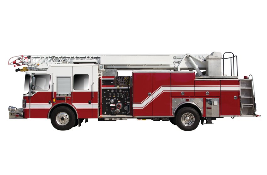 Red Fire Truck isolated on White