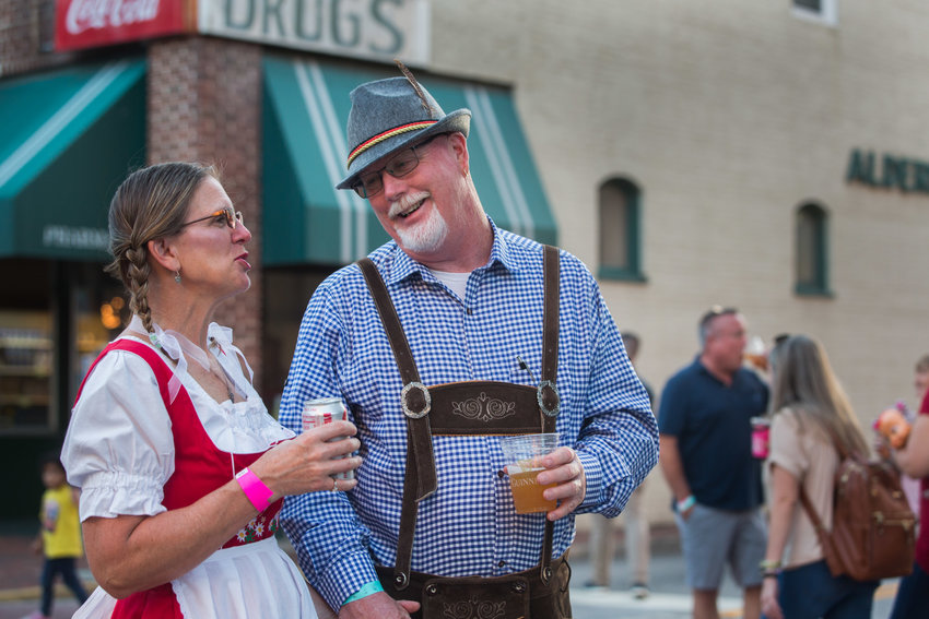 Bonnie and Thomn Black enjoy Oktoberfest in Sumter. See more photos from the event on A6.