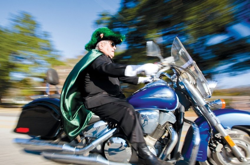 Larry Huff enjoyed riding his motorcycle, including during Sumter parades.