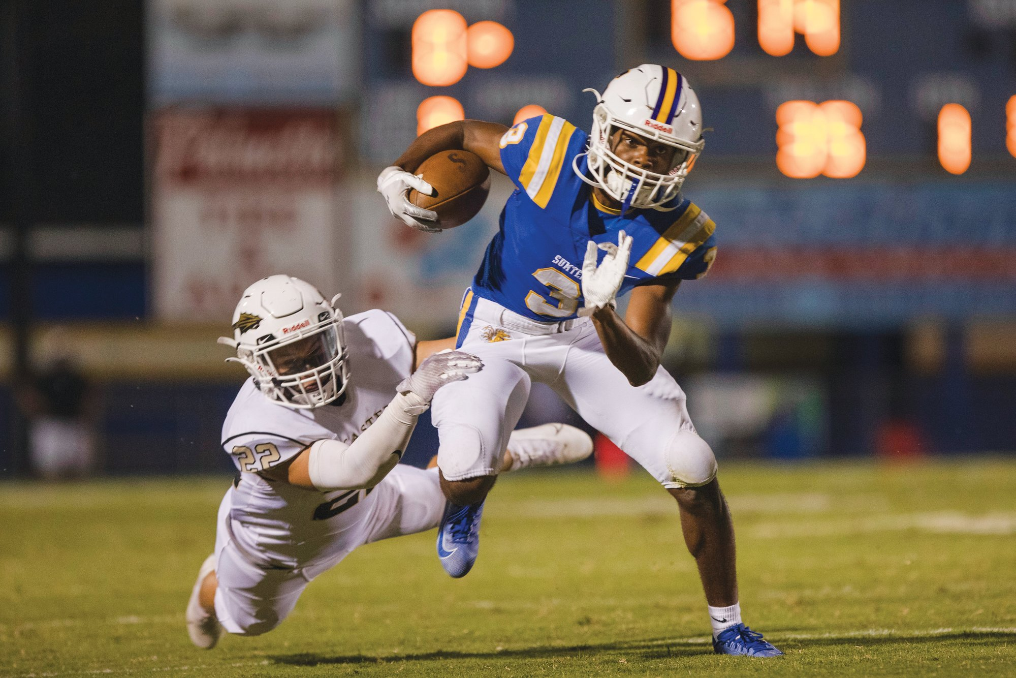 Sumter running back Keion Brown (3) and the Gamecocks will host St. James as they attempt to claim the Region VI-5A crown on Friday.