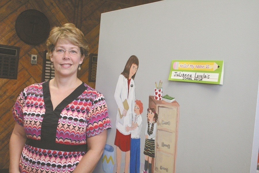 A GREAT COMFORT: Julianne Langlais, a school nurse at Fr. John V. Doyle School, Coventry says that having a nurse is a great comfort, especially to parents of students with serious medical issues.