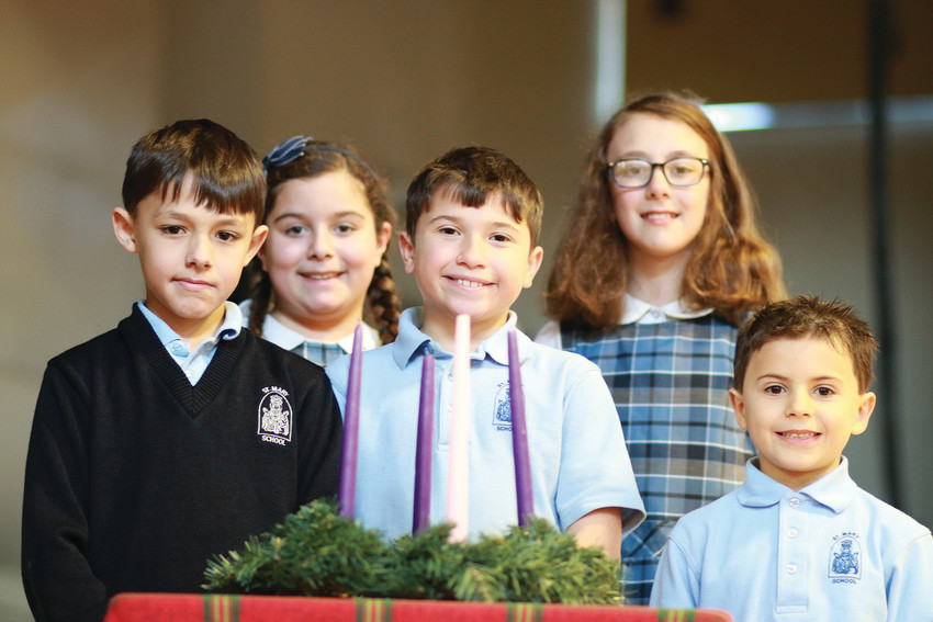 From left to right Anthony Jones, Ava Connors, Nathan Clark, Michaela Clark and Ralph DiDomenico.