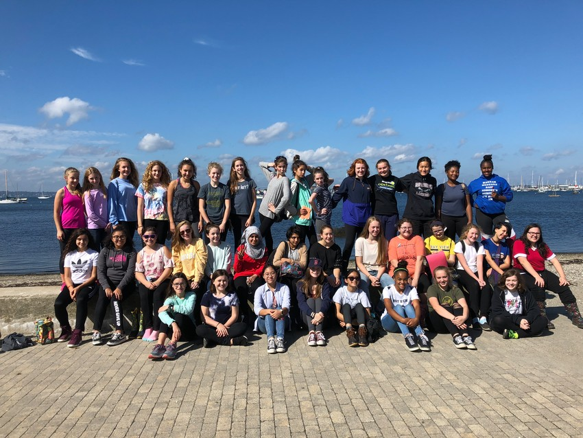 On Wednesday, Oct. 10, the St. Mary Academy - Bay View eighth-grade class traveled to King Park in Newport and partnered with the non-profit organization Clean Ocean Access for a beach clean-up. Together, the eighth-grade students successfully removed 15 pounds of trash from the beach site.