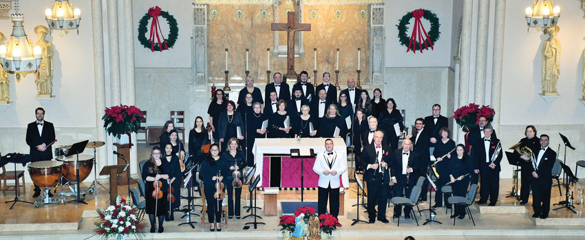 Kyle Jameson, KHS, leads the music ministry at St. Matthew, Cranston. Photos from Christmas 2018 concert.