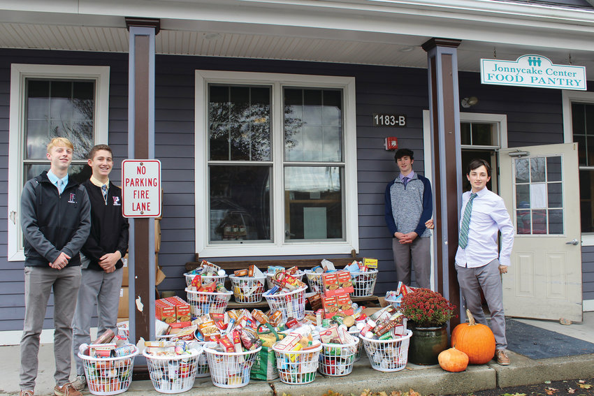 On Nov. 19, The Prout School also delivered 1,100 pounds of food to the Jonnycake Center in Wakefield. Over the course of a few weeks, students, faculty and staff filled 30 Thanksgiving baskets and an additional five boxes of food for the center. Several gift cards, a turkey voucher and cash were donated as well. The food will be distributed by the Jonnycake Center to local families in need during this holiday season. The collection was organized by the students on Prout's Student Council.