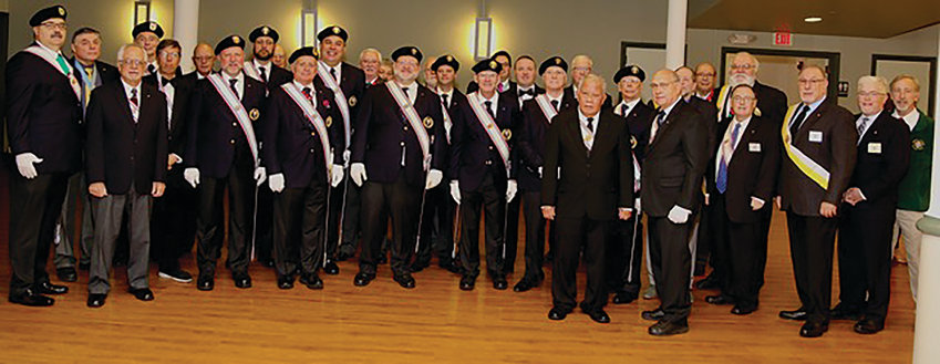 Local Knights of Columbus gather for a photo.